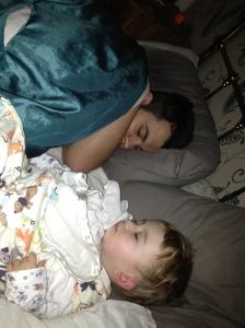 Sleeping boys.